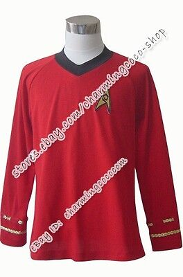 Star Trek TOS Engineering Uniform Cosplay Costume Shirt High Quality Custom-made - High Quality Star Trek Uniform