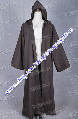 Star Wars Cloak Brown Robe Coat for Anakin Skywalker Cosplay Costume Gown Best