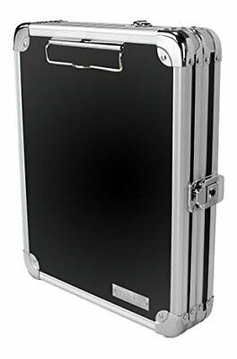 Vaultz Locking Mini Storage Clipboard 5 X 8 Inches Key Lock Black With
