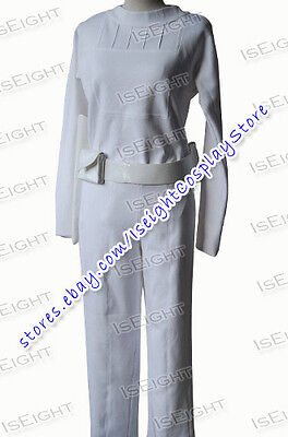 Star Wars Cosplay Padme Amidala Costume White Uniform Female Dress Halloween  (Padme White Costume)