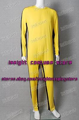 Bruce Lee Costumes Halloween (The Game of Death Cosplay Bruce Lee Costume Yellow Uniform Jumpsuit Halloween)