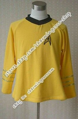 Star Trek TOS Captain Kirk TNG Spock Costume Engineering Uniform High Quality  - High Quality Star Trek Uniform