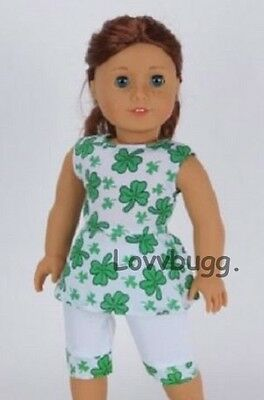 "Lovvbugg Lucky Clover Irish Pants Set for 18"" American Girl Doll Clothes"