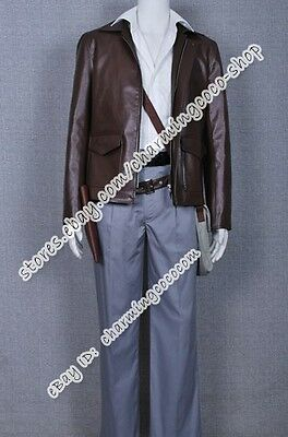 Indiana Jones Cosplay Harrison Ford Costume Jacket Halloween Party Clothing