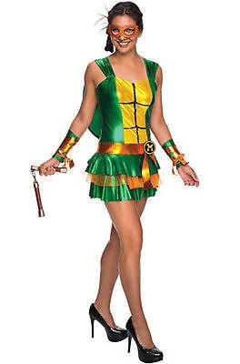 Erwachsene Damen Michelangelo Tmnt Mutant Ninja Turtles Verkleidung Rock 810238