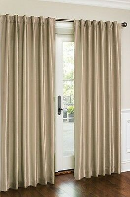 Luxury Faux silk Panel,window curtain- White,Beige,Gold and Brick 54