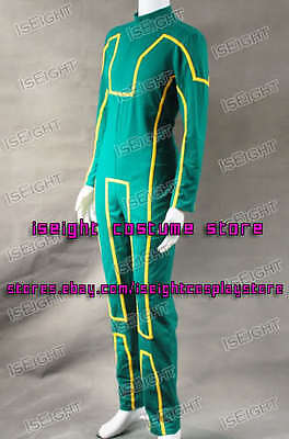 Kick-Ass Dave Lizewski Cosplay Costume Green Outfit Jumpsuit Halloween In Stock - Kick Ass Halloween Costumes