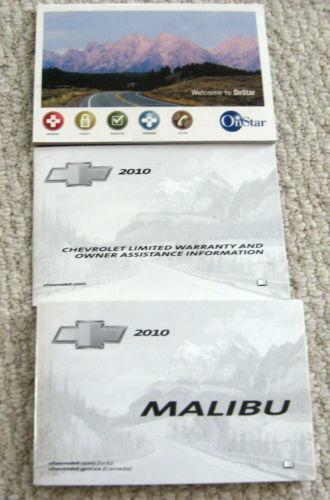 2010 chevy malibu owners manual ebay. Black Bedroom Furniture Sets. Home Design Ideas
