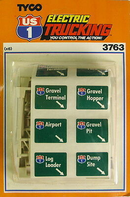 Tyco Us-1 Trucking Slot Car Overhead Highway Signs 3763