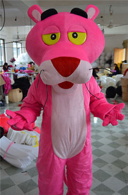 Halloween Pink Leopard Mascot Costume suits Fancy Dress Outfit Adults Size - Leopard Halloween Kit