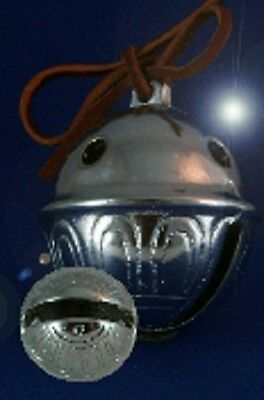 Polar Express Bell # 12 Chrome Sleigh Bell We Have All sizes Help Believe!