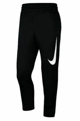 New Mens Nike Therma Fleece Pants AT3260 Black Basketball Men's XL $55