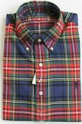 Mens Red Tartan Shirt