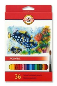 KOH-I-NOOR SCHOOL COLOURED PENCILS - Pack of 36 Assorted Colour Pencils