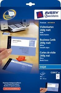 Avery business cards ebay avery inkjet white business cards 10 sheet packs c32015 10 reheart Choice Image