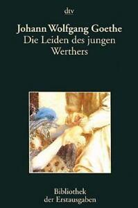 Die Leiden Des Jungen Werther By Johann Wolfgang Von Goethe Paperback