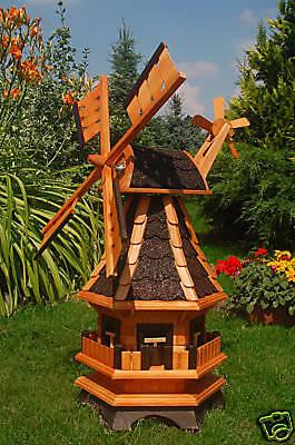 * Windmühle,Windmühlen +kugelgelagert+ 95cm Bitum dunkel, für den Garten