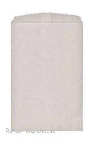 "White Paper Bags 1000 Flat Kraft Retail Sales Merchandise 6 ¼"" x 9 ¼"""