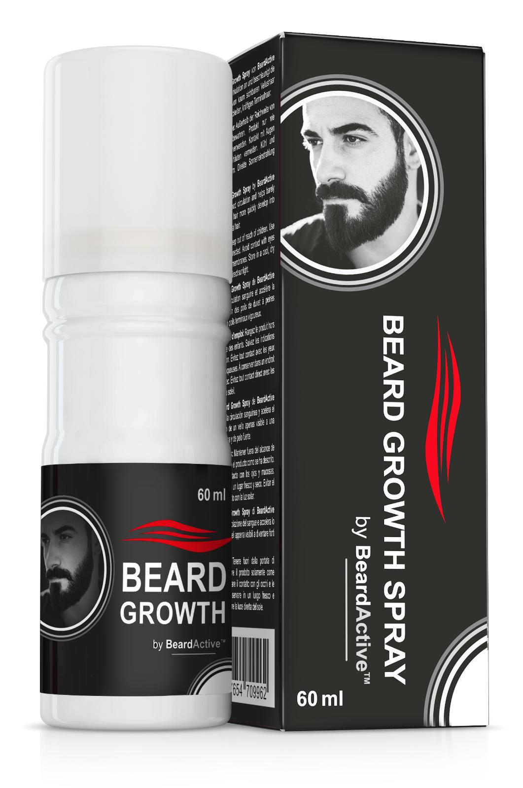 Bartwuchs-Spray Beard Growth Spray fördert Wachstum und führt zu mehr Bart 60 ml