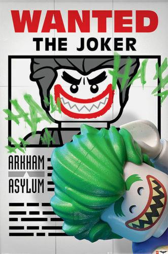 LEGO BATMAN MOVIE - JOKER WANTED POSTER 24x36 - 2967