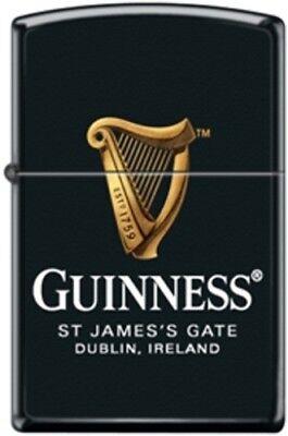 Zippo Guinness Harp Beer St.James's Gate Black Matte Finish Windproof Lighter