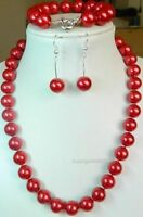 Red Sea Shell Pearl Necklace Bracelet Earring