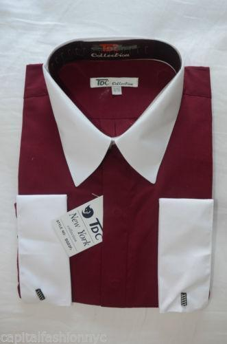 Mens Burgundy Dress Shirt Ebay
