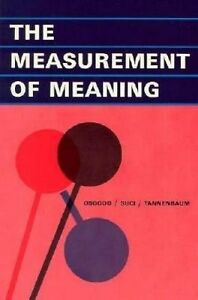 The Measurement of Meaning, Charles E. Osgood