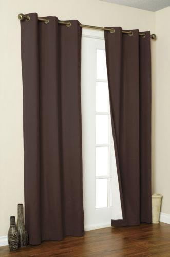 Brown Blackout Curtains Ebay
