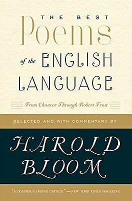 Best Poems of the English Language by Prof. Harold Bloom New Paperback Book