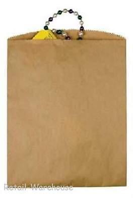 1000 Paper Bags Kraft Flat 1000 Natural Retail Sales Merchandise 12 X 15