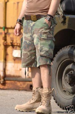 Trooper Camo (US Army M65 Woodland Shorts Prewashed Paratrooper Gr L Camo Shorts Pants)
