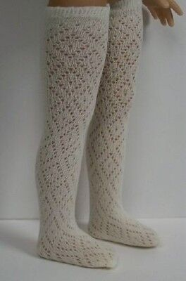 "CREAM Stocking Thigh-Hi Doll Socks For Dianna Effner 13"" Little Darling (Debs)"