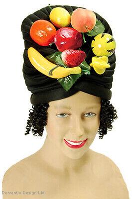 Früchtehut & Perücke Carmen Miranda Karneval Damen Tropisch Banane Orange - Carmen Miranda Kostüm