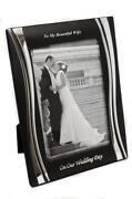 Silver Wedding Photo Frame