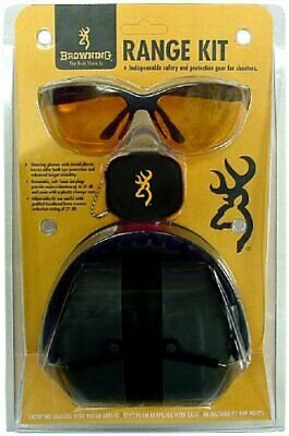 Browning Range Kit For Him, 27 dB Muffs, Sunglasses, Black - (Sunglasses For Him)