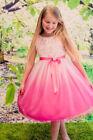 First Communion Pink Dress Formal Wear for Girls
