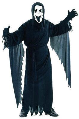 Herren Scream Kostüm Robe und Maske Erwachsene Geist 90s Kostüm Halloween Neu L