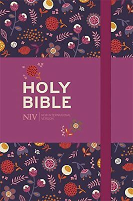 NIV Pocket Floral Notebook Bible by New International Version New Hardback Book