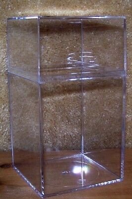 """12 Clear Plastic Acrylic Storage Boxes 7.5"""" x 4"""" for Display - Beanies, Sports"""