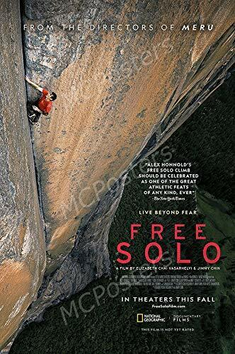 "Free Solo Glossy Finish Movie Poster - 24"" x 36"