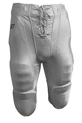 New Reebok Slotted Football Game Practice Pants w/ Slots for Pads Adult XL White