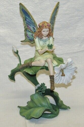 Bradford Exchange Emerald Isle Fairy Figurine ~ Garden Fairy