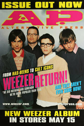 Weezer A.P. Alternative Press 2001 Green Album Release Promo Poster