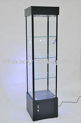 Tower Black Full Vision Showcase Display Assembled Wled Lights Sc-wl18bk-led