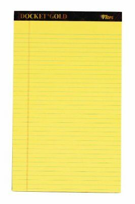 Tops Docket Gold Legal Pad - 50 Sheet - 20 Lb - Legalwide Ruled - Top63980