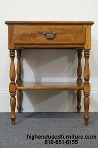 Night stand furniture ebay for Ethan allen bedroom night stands