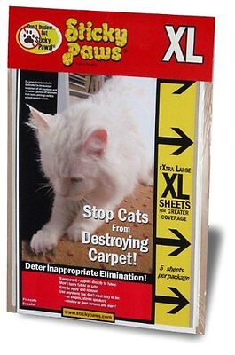 X Large Sticky Paws   Five 9  X 12  Sheets   New  Free Shipping