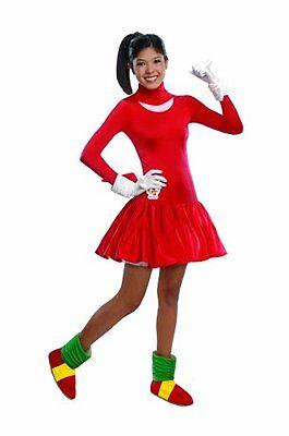 Teen Girls Sonic The Hedgehog Knuckles Halloween Costume Dress Teen Size 2-6 NEW ()