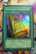 Yugioh Toon Table of Contents